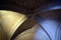 Croisée d'ogive d'église ou de château de style XIVe