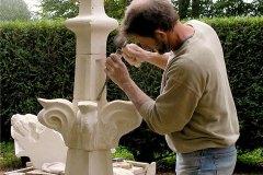 Réalisation d'un  pinacle gothique flamboyant du XVe siècle