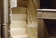 Escalier à noyau mouluré  du XVe siècle