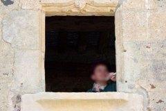 Petite fenêtre de manoir XVe siècle