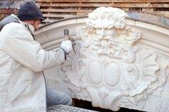 Fronton sculpté  sur Hôtel particulier du XVIIIe siècle