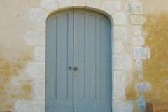 Porte en anse de panier, architecture rurale du XIXe siècle